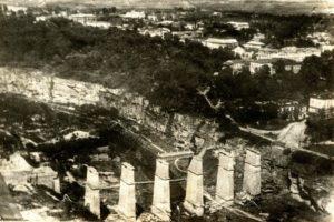 9 липня 1941 року радянські війська підірвали Новопланівський міст у Камянці-Подільському. Фото: k-p.net.ua