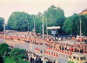8 липня 1980 року Хмельниччина приймала естафету Олімпійського вогню, що мандрував на ХХІІ Олімпійські ігри. Фото: ounb.km.ua